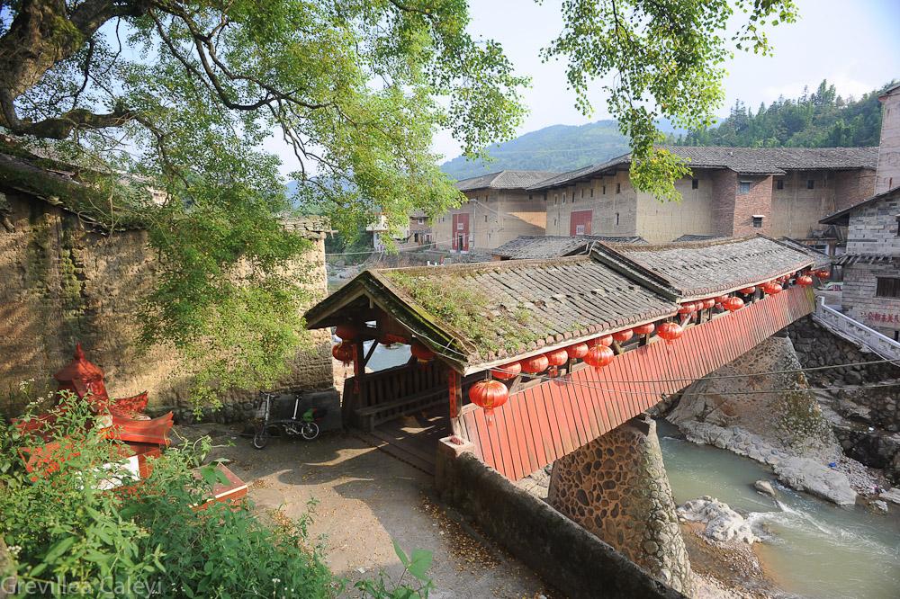 300 year old wind and rain  bridge, Yongding