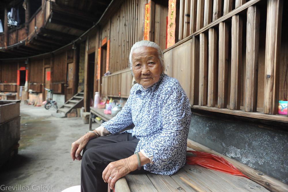 Elderly resident of Qing Xing Tulou, Shuyang, Nanjing.